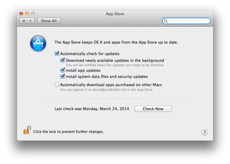 OS X App Store Automatic Downloads