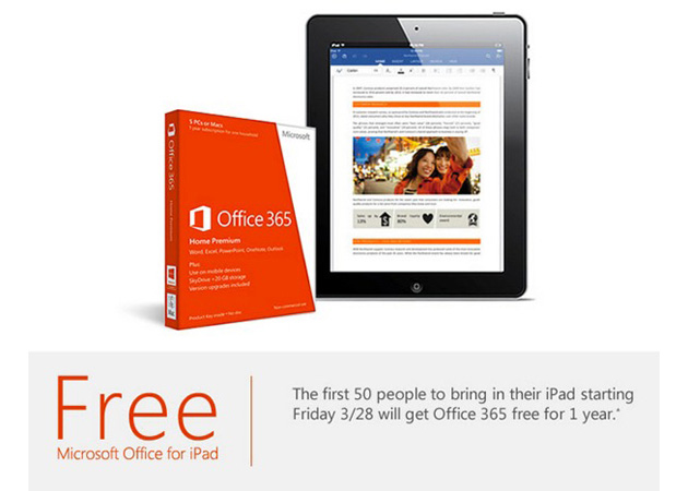 Microsoft's Office 365 iPad promotion