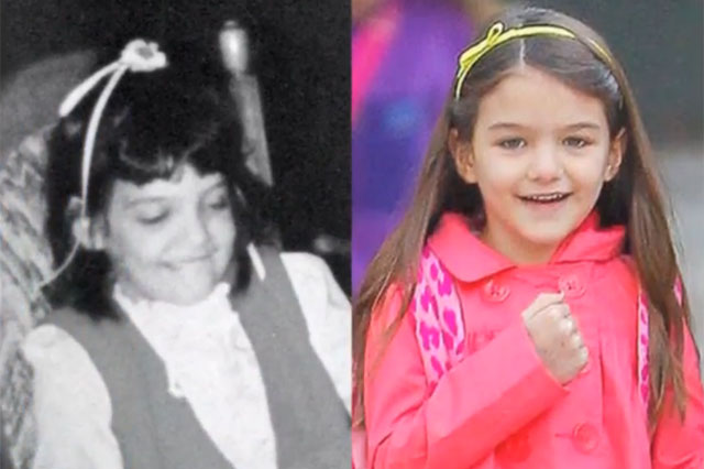 Katie Holmes Throwback Thursday pic, looking like Suri Cruise