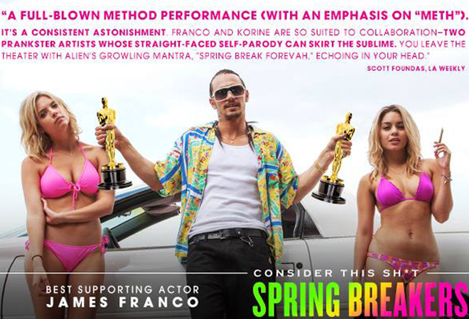 James Franco's 'Spring Breakers' Oscar campaign