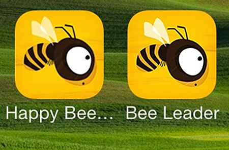happy bee icon compared with bee leader icon