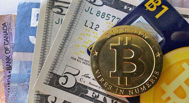 Bitcoins on top of traditional cash