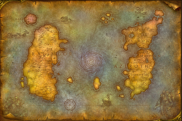 World of Warcraft - Vanilla Azeroth Map