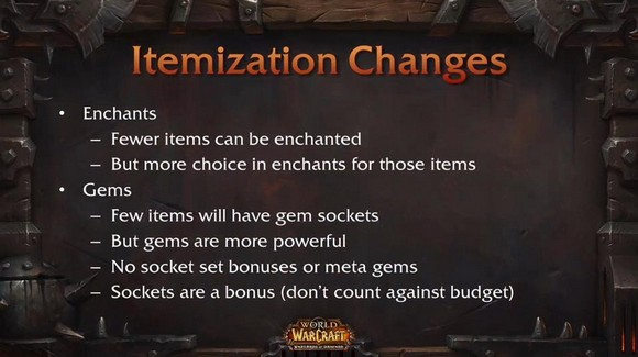 Gem and enchants in Warlords of Draenor