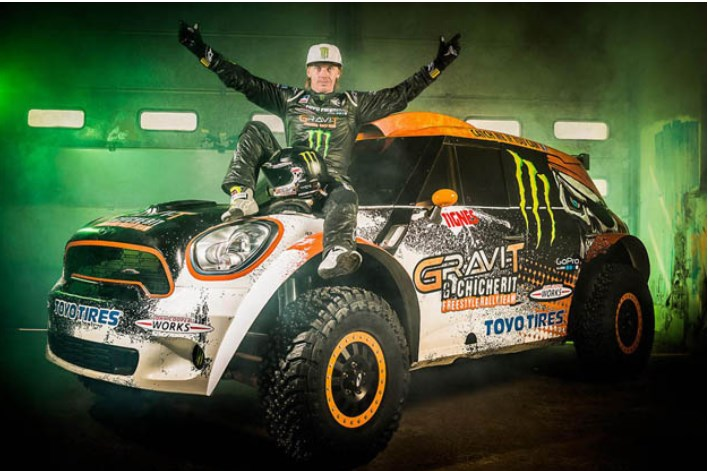 Guerlain Chicerit, car jump, tanner Foust, MINI Countryman, Tignes, Guinness World Record, Guinness weltrekord, gescheitert, crash, unfall, video, daredevil crash, guerlain chicherit, guiness world record, guinness, jump, longest jump, mini, video, world record