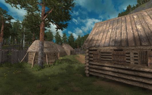 Life is Feudal log cabins