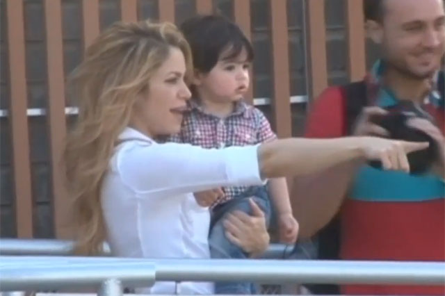 Shakira and son Milan visit Colombia