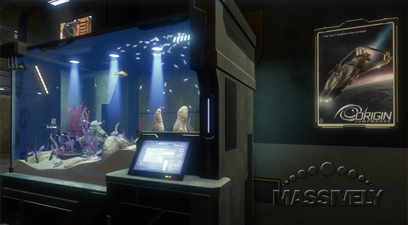 Star Citizen fish tank and 300 poster