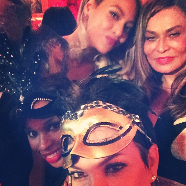 Jennifer Hudson, Kris Jenner, Beyonce, Tina Knowles