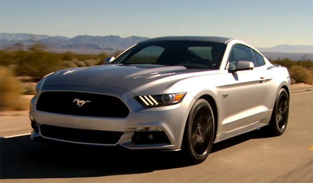 Screencap from video of the 2015 Ford Mustang
