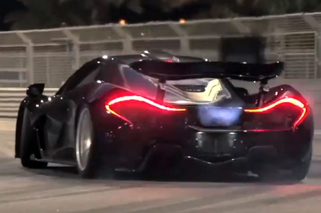 Chris Harris drifts the McLaren P1