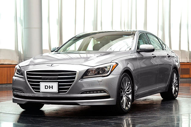 2015 Hyundai Genesis sedan, front three-quarter view
