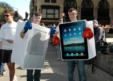 ipad vs kindle costumes