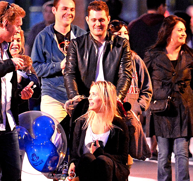 Michael Buble and family at Disneyland