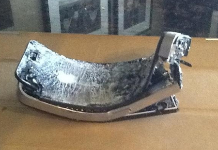 iPhone destroyed in treadmill