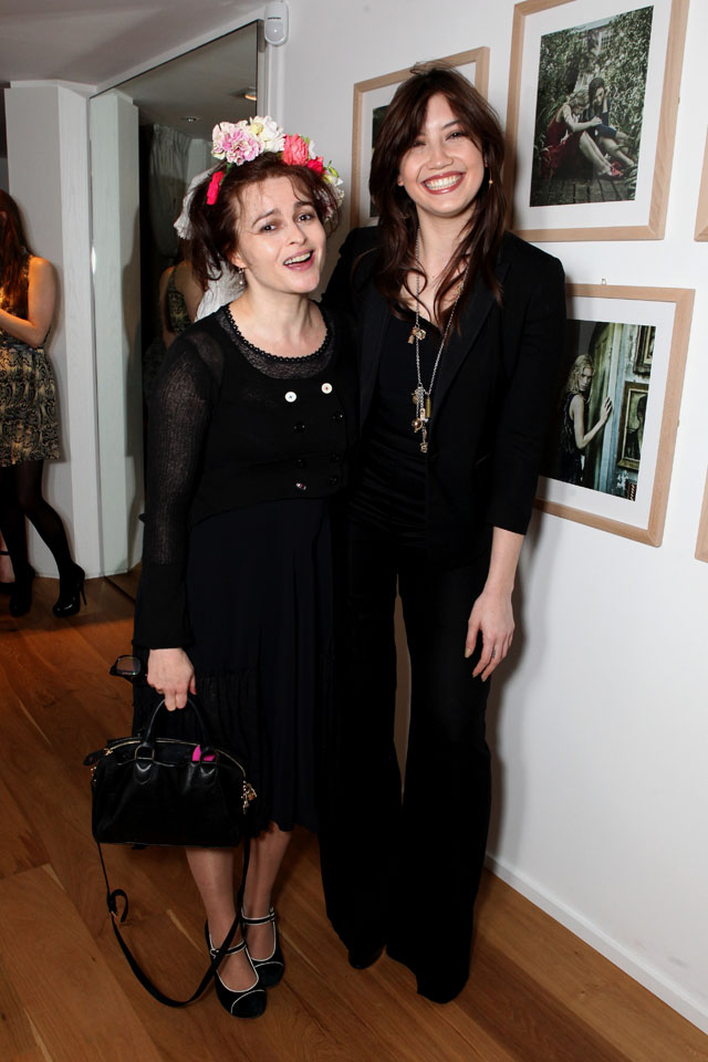 LONDON, ENGLAND - MARCH 19:  Model Daisy Lowe and actress Helena Bonham Carter attend the HIGH London flagship store launch on March 19, 2014 in London, England.  (Photo by David M. Benett/Getty Images for HIGH)