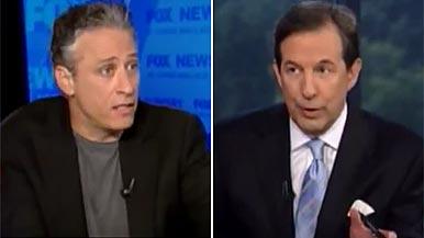 Jon Stewart and Chris Wallace
