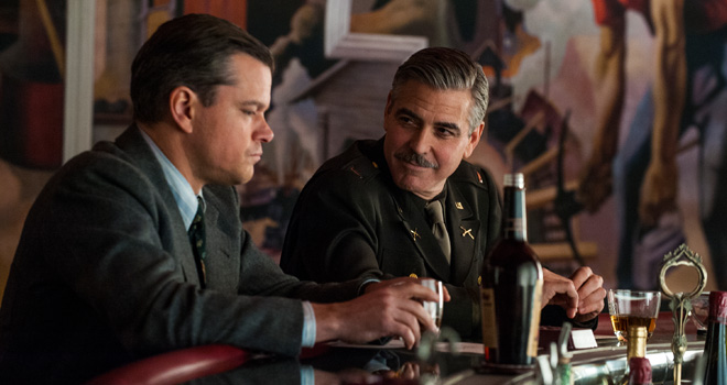 Matt Damon and George Clooney in 'The Monuments Men'