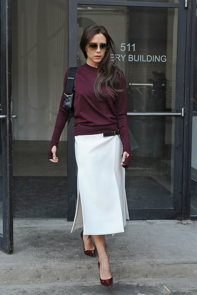 NEW YORK, NY - FEBRUARY 10:  Victoria Beckham is seen on February 10, 2014 in New York City.  (Photo by NCP/Star Max/GC Images)