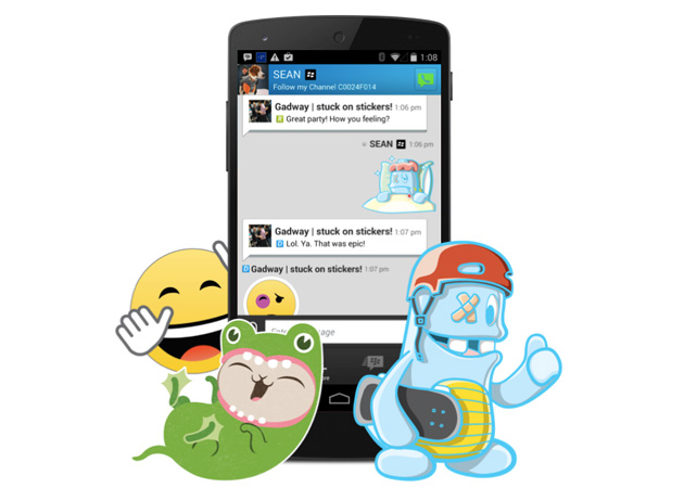 BlackBerry adds stickers to BBM
