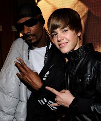 Justin Bieber and Snoop Lion