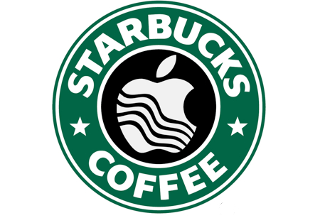 starbucks apple logo
