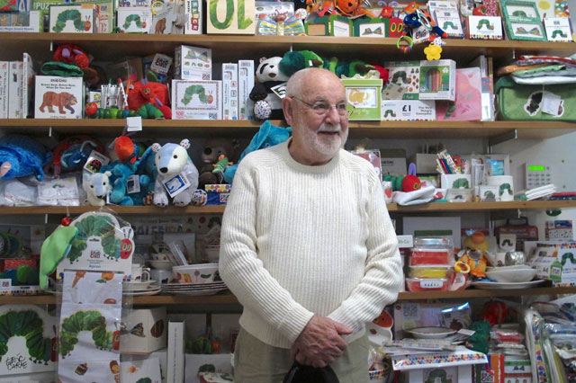 Eric Carle, author of The Very Hungry Caterpillar