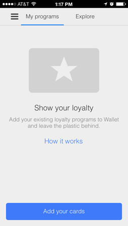google wallet for ios update adds loyalty card scans and merchant notifications. Black Bedroom Furniture Sets. Home Design Ideas