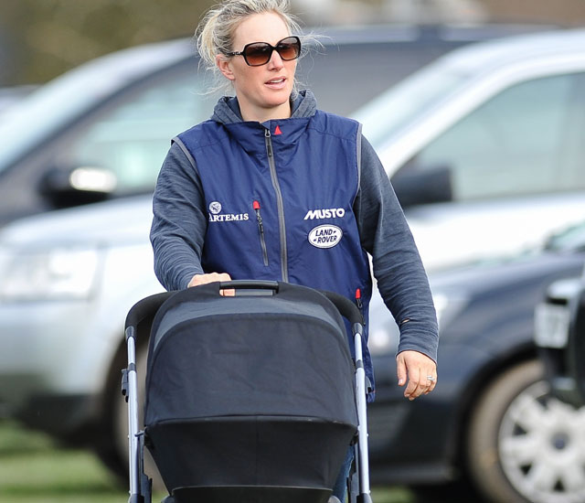 Zara Phillips and baby daughter Mia Grace