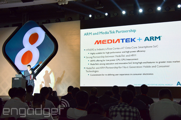 MediaTek launches world's first true octa-core mobile chip, first devices due end of year