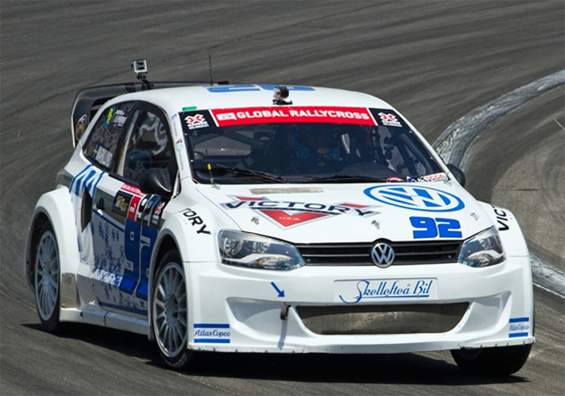 Anton Marklund drives his VW Polo Global Rallycross Supercar