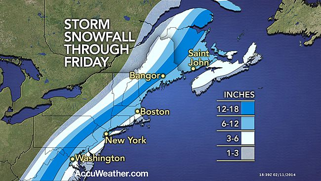 Snowfall Through Friday