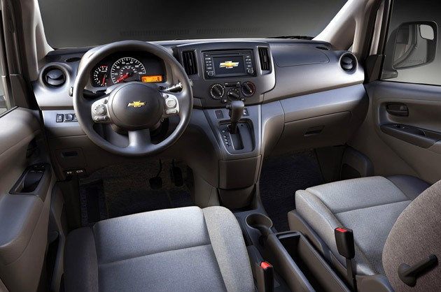 2015 Chevrolet City Express will serve as a mobile office for businesses. It provides a driver-focused front cockpit with fold-down passenger seat to create a worktop, and Chevrolet?s navigation system and Bluetooth hands-free calling.