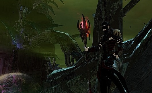 Necromancer in front of Nightmare tower
