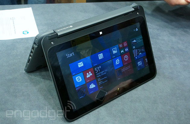 Hands-on with HP's Pavillion x360 touchscreen convertible laptop (video)
