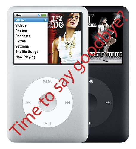 Apple iPod classic with text edit