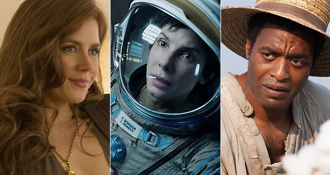 amy adams, gravity, sandra bullock, chiwetel ejiofor, 12 years a slave, american hustle