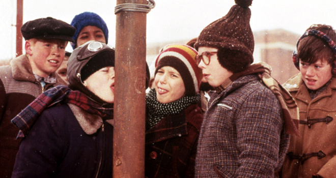 'A Christmas Story' tongue on pole scene