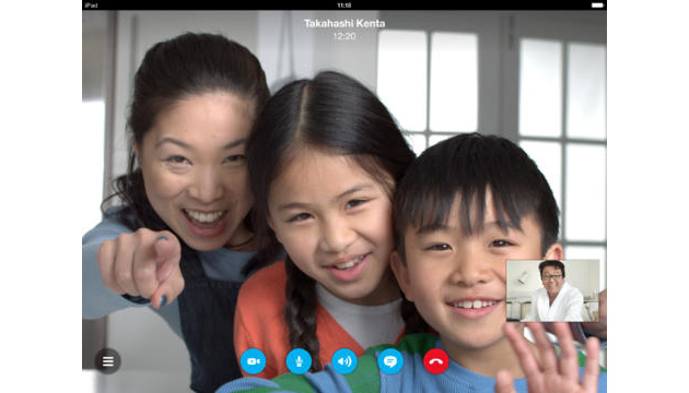Skype video chat on iPad