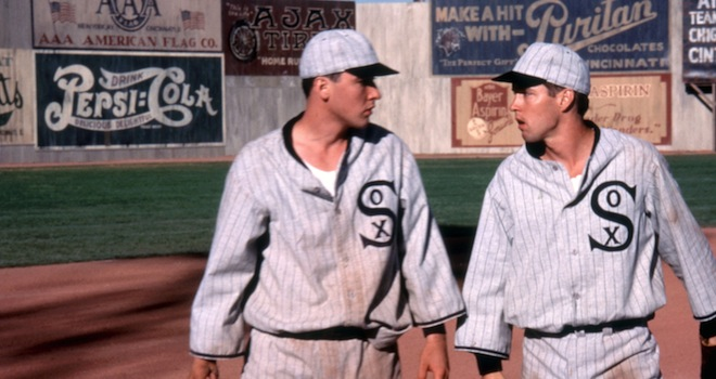 EIGHT MEN OUT, John Cusack, D.B. Sweeney, 1988, (c)Orion Pictures Corp./courtesy Everett Collection