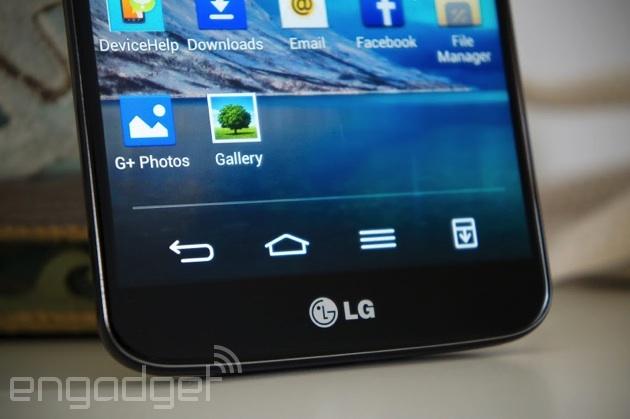 LG G2 navigation keys