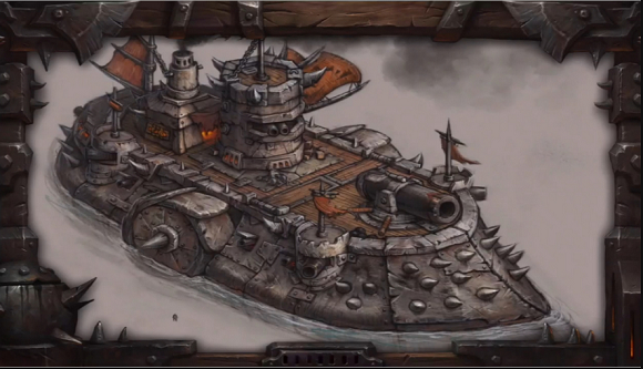 War barge art from BlizzCon