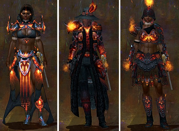 Flame armor light, medium, and heavy