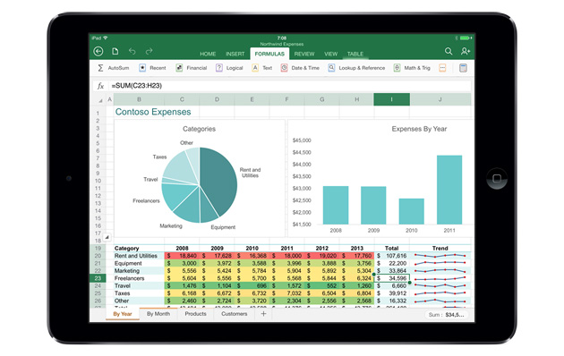 Microsoft releases Office for iPad, subscription required for editing docs