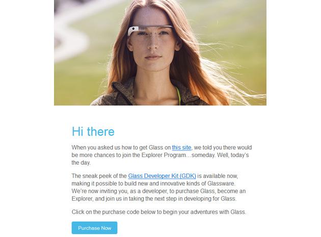 Google Glass invitation for developers