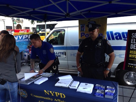 NYPD officers register iPhones