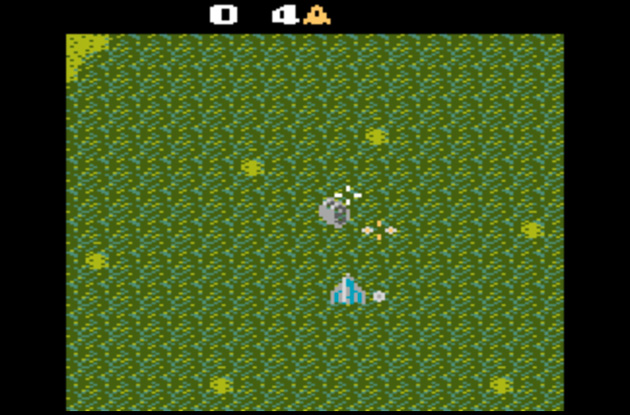 Xevious on an Atari 2600 in the Console Living Room