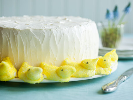 Buttery Easter Layer Cake with Lemon Curd