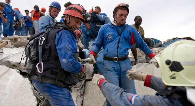 Russians rescue Haitian man from earthquake rubble