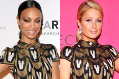 Zoe Saldana or  Paris Hilton?